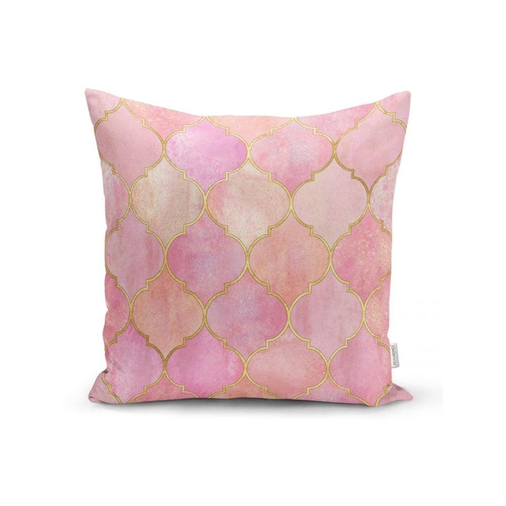 Povlak na polštář Minimalist Cushion Covers Pink Pattern, 45 x 45 cm