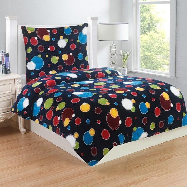 Lenjerie de pat din micropluș My House Bubbles, 140 x 200 cm