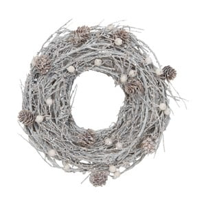 Coroniță decorativă Clayre & Eef Snowy Time Garland, 27 cm