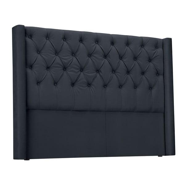 Ocelově šedé čelo postele Windsor & Co Sofas Queen, 156 x 120 cm