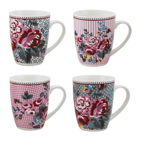 Sada 4 porcelánových hrnčekov Premier Housewares Pippa Mugs