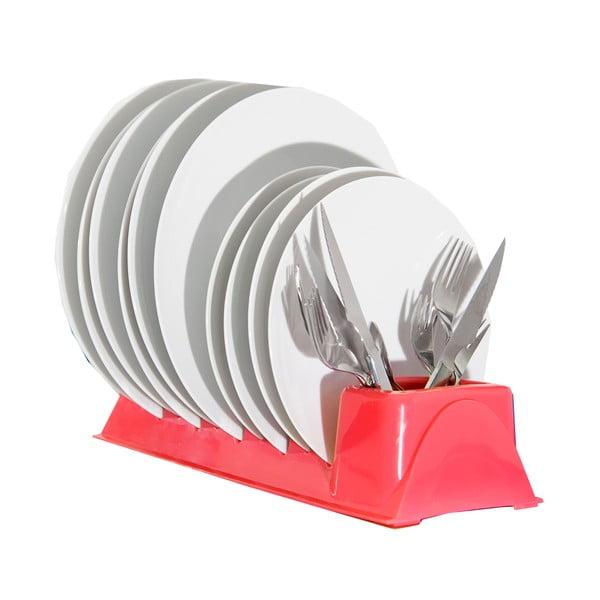 Červený stojan na talíře JOCCA