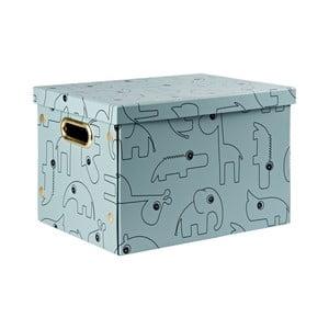 Modrý úložný box Done by Deer Contour