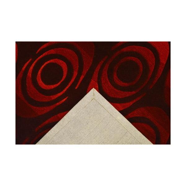 Ručně tkaný koberec Pluto, 120x180 cm, tmavě červený