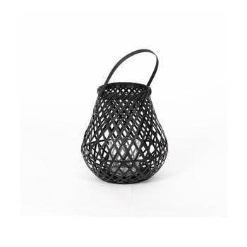 Felinar din bambus Compactor Bamboo Lantern, ⌀ 25 cm, negru imagine