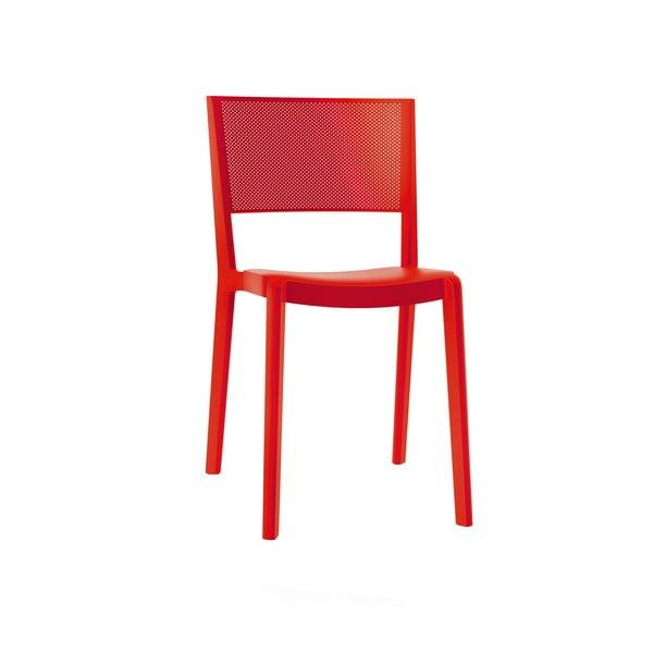 Sada 2 záhradných stoličiek v červenej farbe Resol Spot