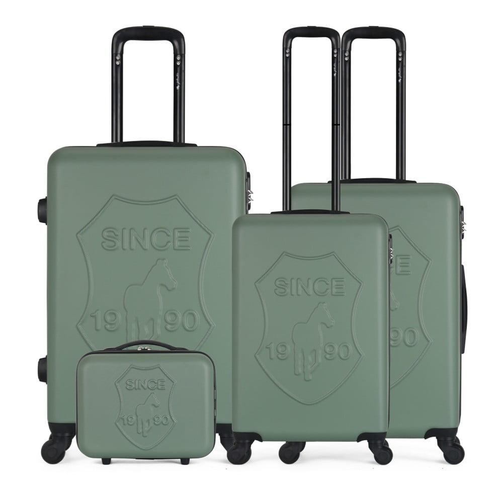 Sada 4 zelených cestovních kufrů na kolečkách GENTLEMAN FARMER Integre & Vanity