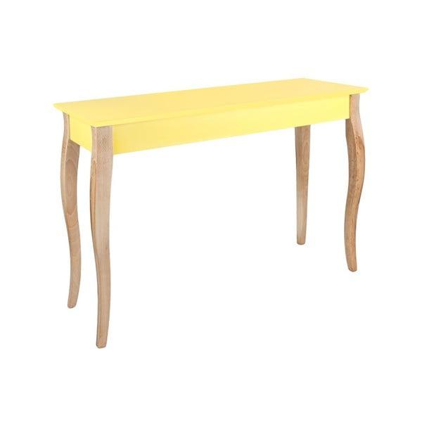 Odkládací konzolový stolek Dressing Table 105x74 cm, žlutý