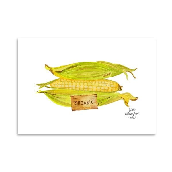Autorský plakát Corn, 30x42 cm