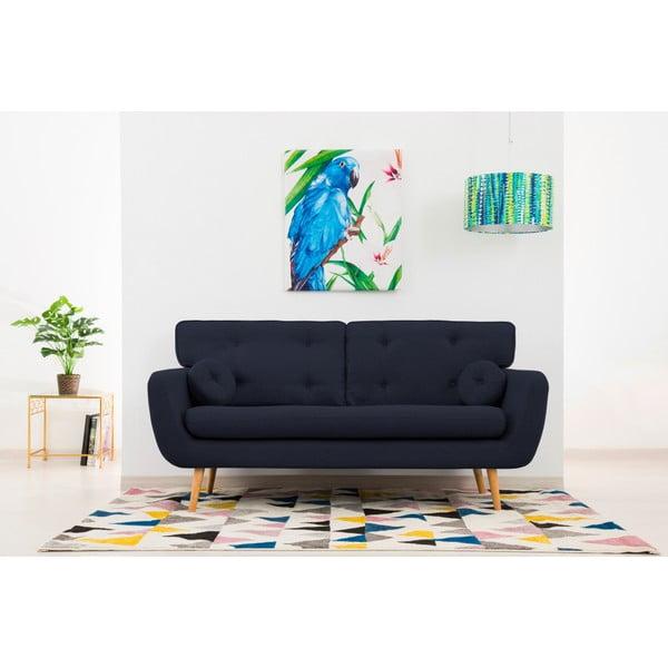 Canapea cu 3 locuri Vivonia Malva, bleumarin