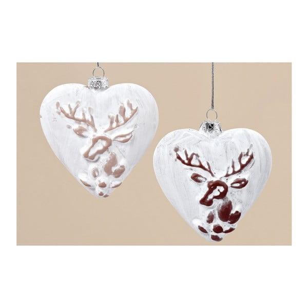 Sada 6 ks závěsných dekorací Winter Heart