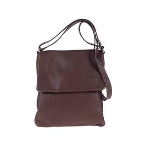 Tmavě kožená kabelka hnědá Pitti Bags Sovida
