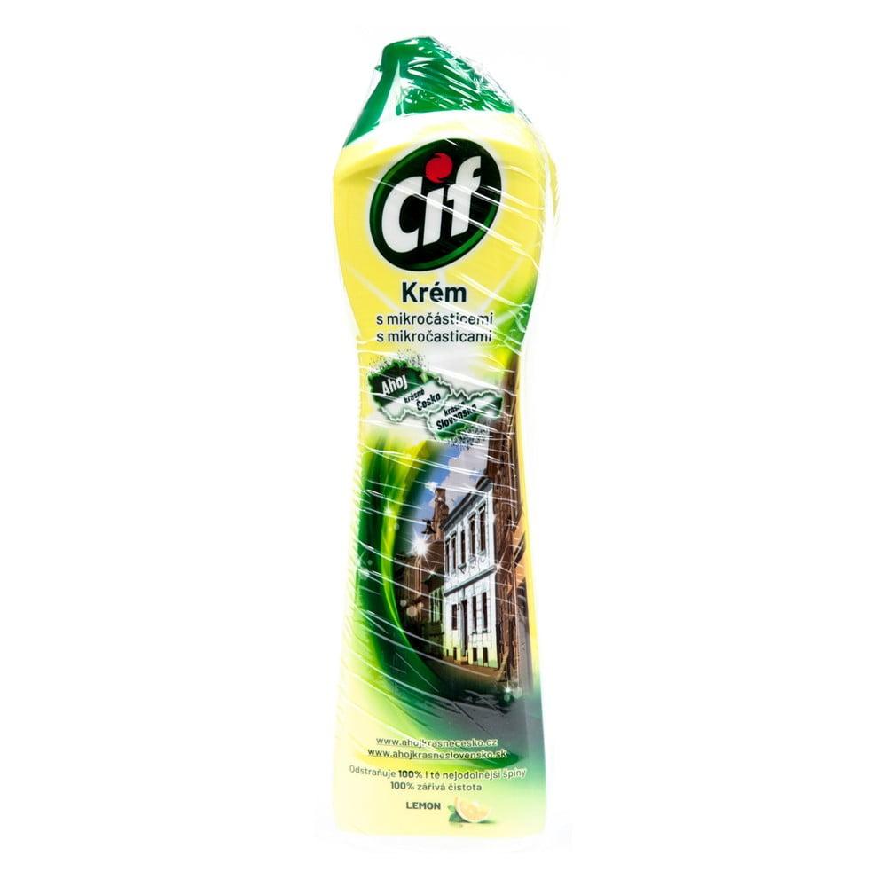 Tekutý písek do koupelny a kuchyně Cif Lemon, 500ml