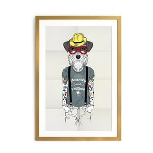 Obraz Little Nice Things Hipster Dog, 40 x 60 cm