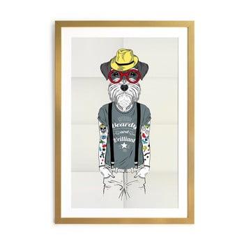 Tablou/poster înrămat Really Nice Things Hipster Dog, 65 x 45 cm imagine