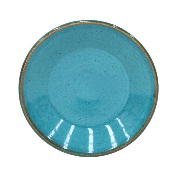 Niebieski talerzyk z kamionki Casafina Sardegna,⌀16cm