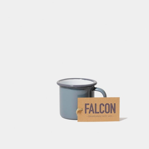 Šedý smaltovaný šálek na espresso Falcon Enamelware, 160 ml