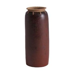Váza z exotického dřeva Last Deco Kenya, výška 40 cm