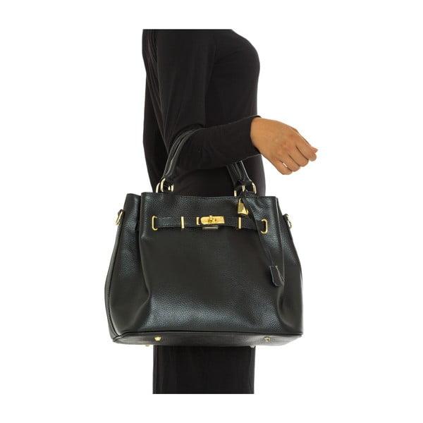 Černá kožená kabelka Isabella Rhea Pisa