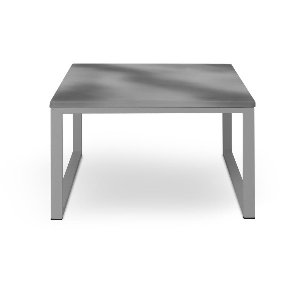 Šedý venkovní stůl v betonovém dekoru a šedém rámu Calme Jardin Nicea, délka 70 cm