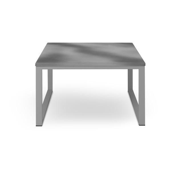 Sivý exteriérový stôl v betónovom dekore v sivom ráme Calme Jardin Nicea, dĺžka 70 cm