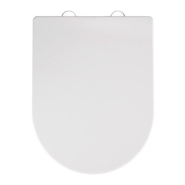 Biała deska sedesowa wolnoopadająca Wenko Calla, 47x35,5 cm