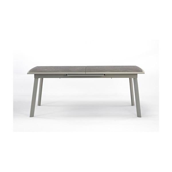 Sivý záhradný jedálenský rozkladací stôl Ezeis Rotonde