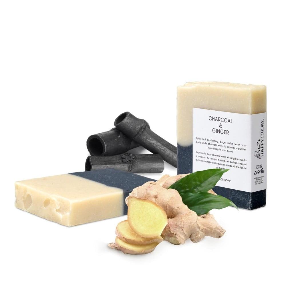 Přírodní mýdlo s aktivním uhlím a zázvorem HF Living