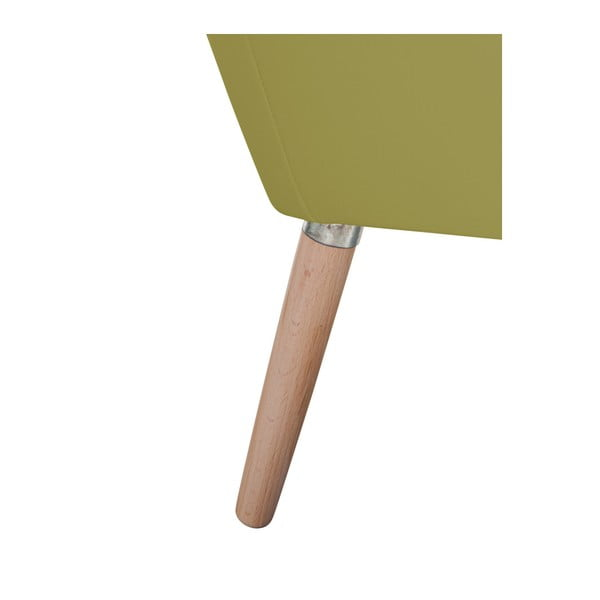 Zelené koženkové křeslo Max Winzer Alegro