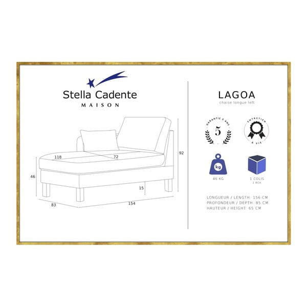 Modrá lenoška Stella Cadente Maison Lagoa, levá strana