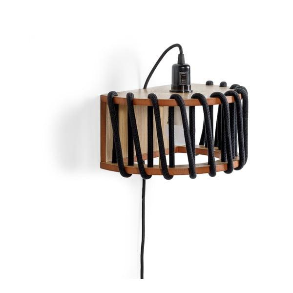 Aplică din lemn EMKO Macaron, lungime 30 cm, negru