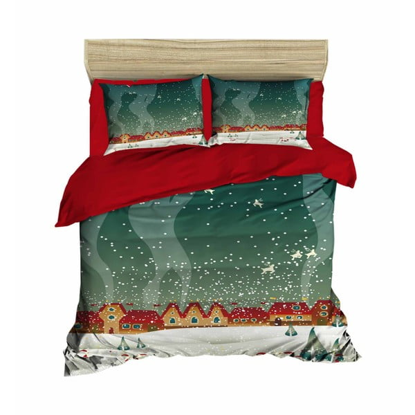 Patric karácsonyi, kétszemélyes ágyneműhuzat lepedővel, 200 x 220 cm