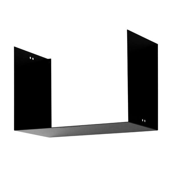 Nástěnná police Geometric Two, černá