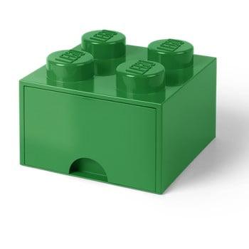 Cutie depozitare cu sertar LEGO®, verde de la LEGO®