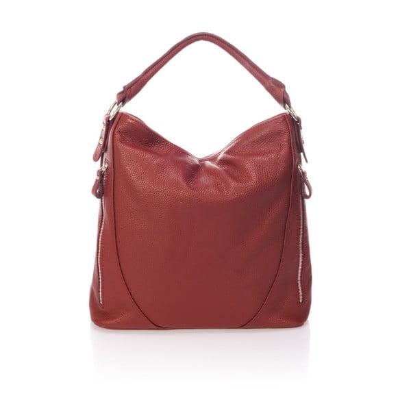 Bordó kožená kabelka Markese Ursine