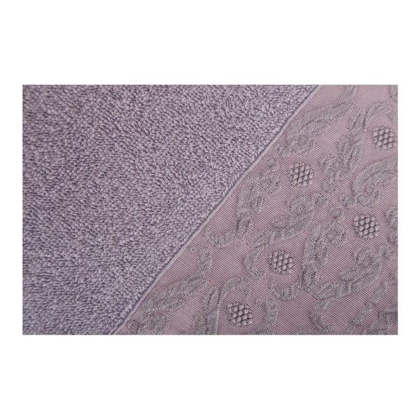 Sada 2 fialových ručníků z čisté bavlny Handy, 50 x 90 cm