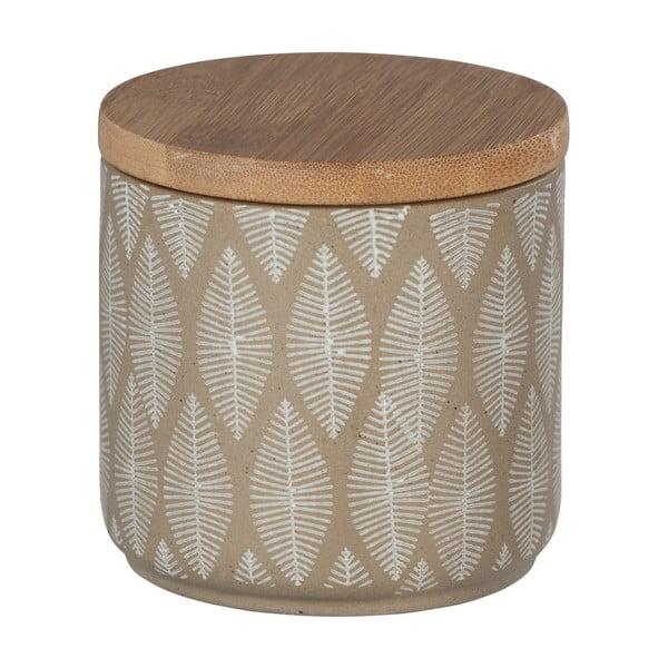 Ceramiczny pojemnik z wieczkiem z drewna bambusu Wenko Tupian