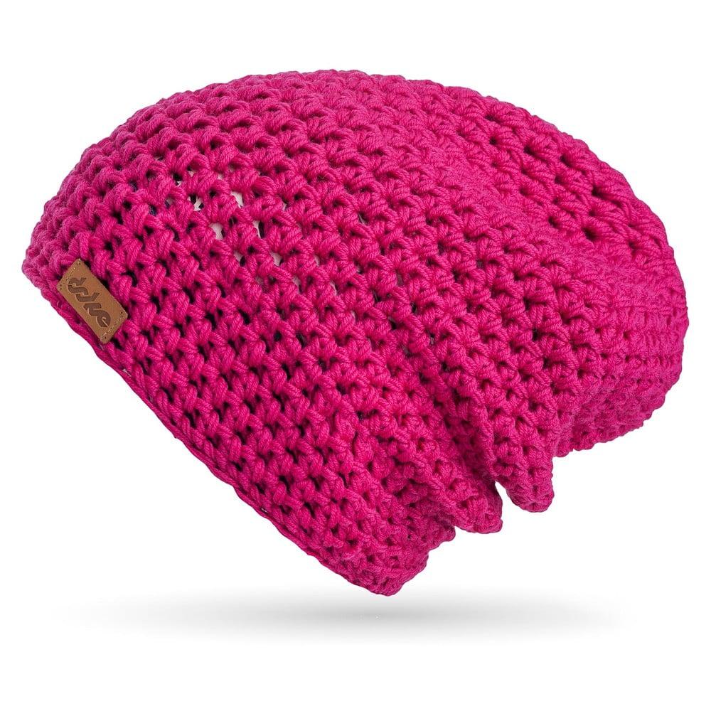 Růžová ručně háčkovaná čepice z merino vlny DOKE 3424b169e9