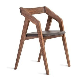 Scaun din lemn masiv de nuc Charlie Pommier Visionnaire