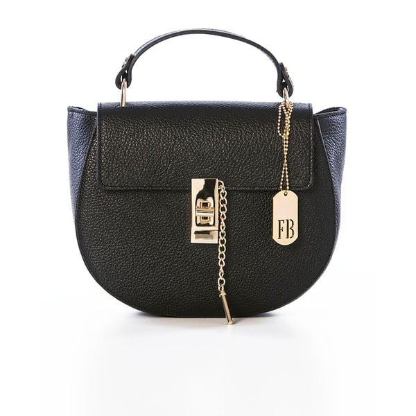 Černá kožená kabelka Federica Bassi Virgin