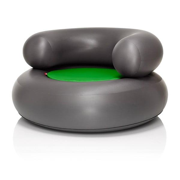 Fatboy nafukovací křeslo CH-AIR, antracitové se zeleným polštářem