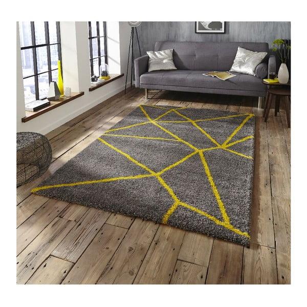 Šedo-žlutý koberec Think Rugs Royal Nomadic Grey & Yellow, 160 x 230 cm