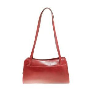 Červená kožená kabelka Chicca Borse Kamila