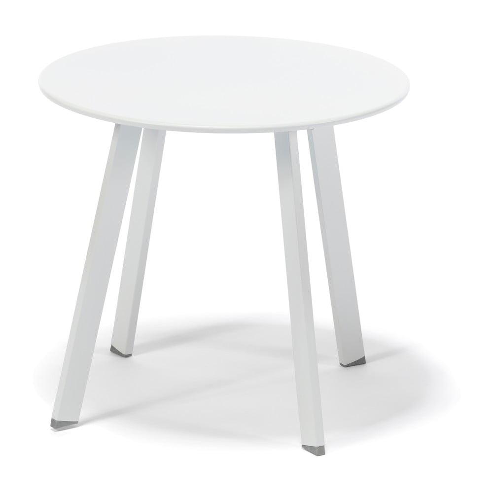 Bílý nízký zahradní stoleček Timpana