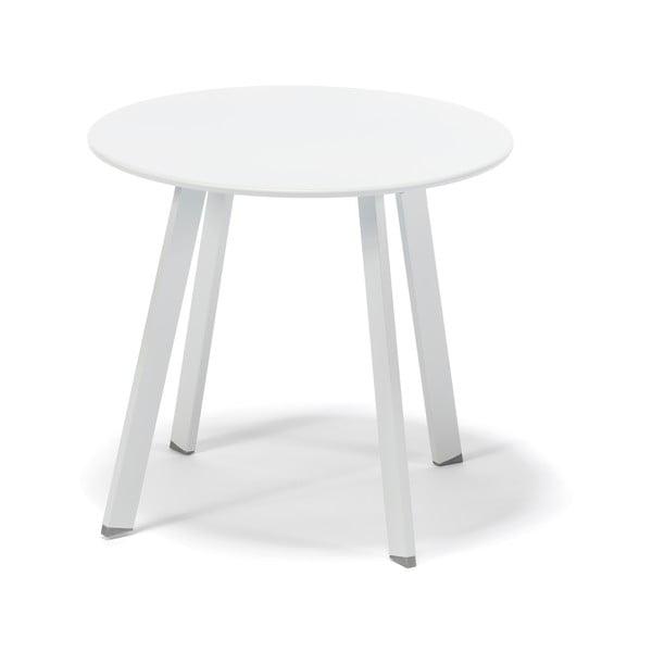 Bílý nízký zahradní stoleček Timpana Mismo