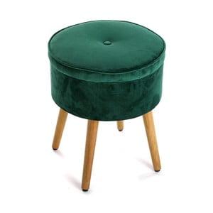 Zelená stolička s úložným prostorem Versa Mosa
