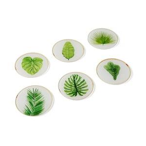 Set 6 suporturi de pahar din sticlă Versa Leaf