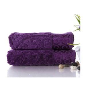Sada 2 ručníků Hanzade Purple, 50x90 cm