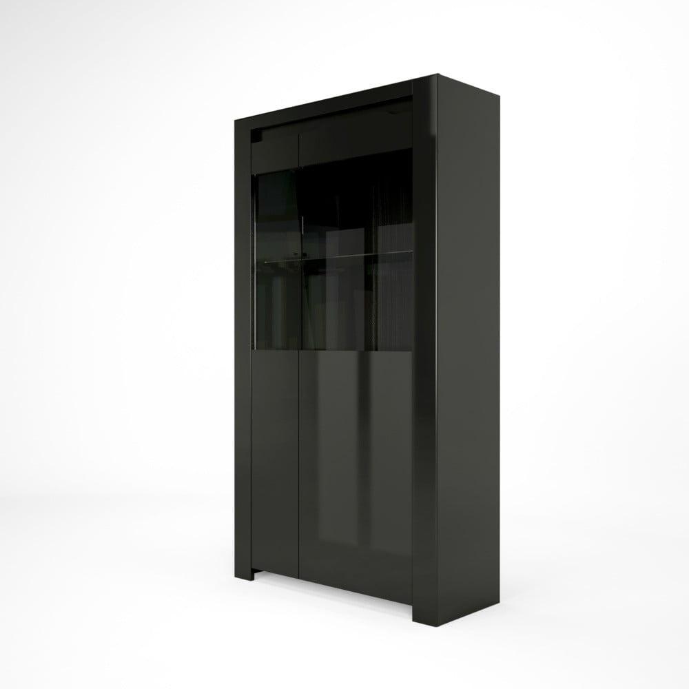 Černá vitrína Artemob Orlando, 92 x 168 cm
