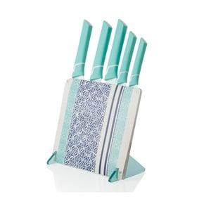 Set 5 cuțite din ceramică cu suport Brandani Panarea